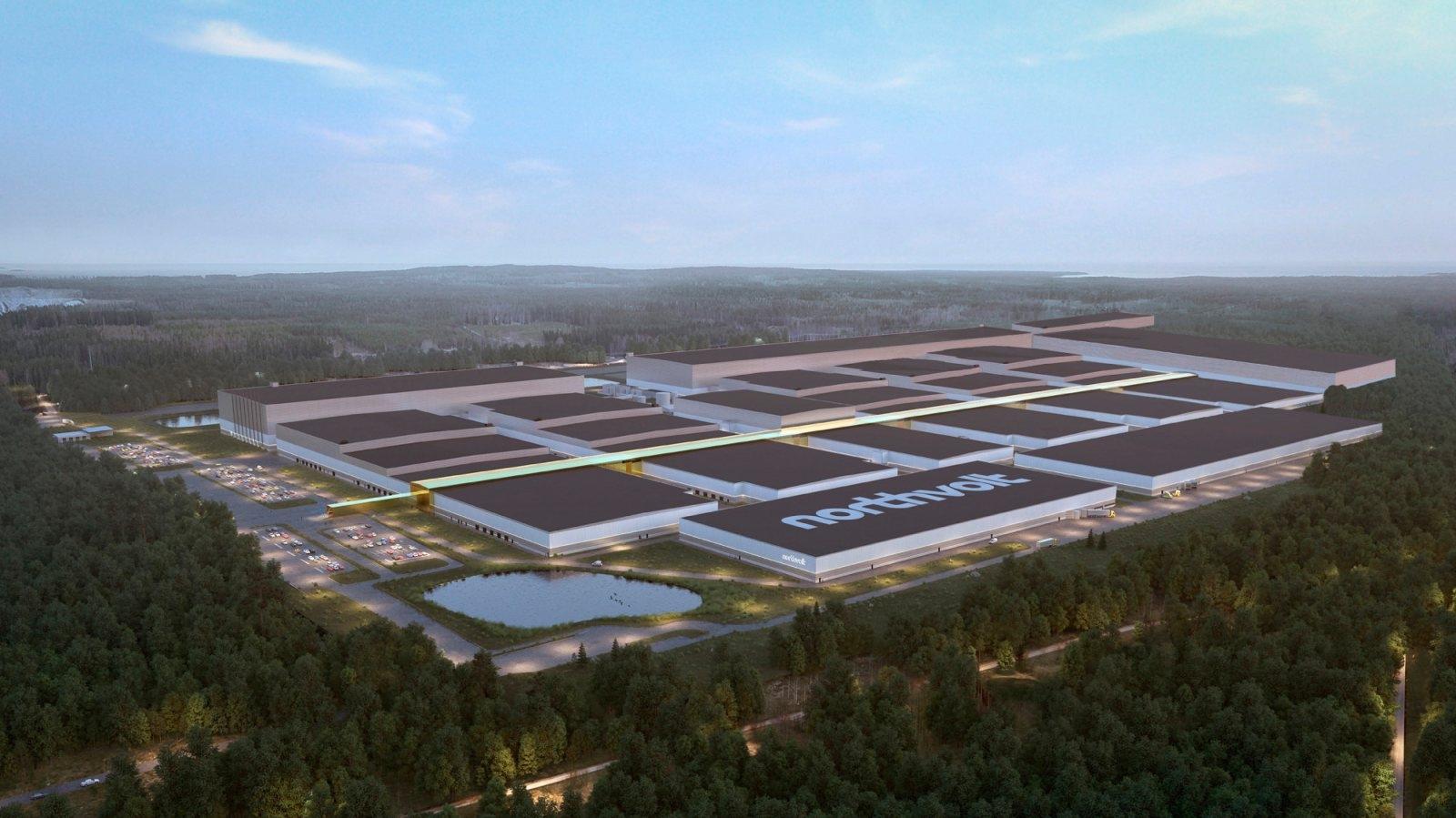 Volkswagenが出資するNorthvoltのスウェーデン電池工場(出所:Volkswagen)