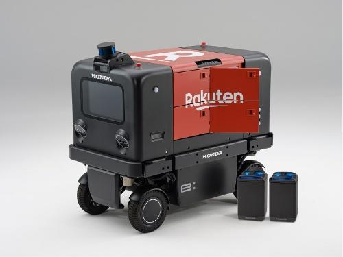 着脱式電池パックを使う自動配送車