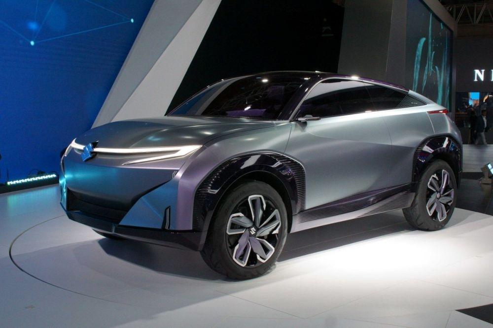 図1 インドMaruti Suzuki India(マルチ・スズキ・インディア)のコンセプトEV「Concept FUTURO-e」 20年2月にインドで開催された「デリーモーターショー2020」(Auto Expo 2020)で公開した。(撮影:日経クロステック)