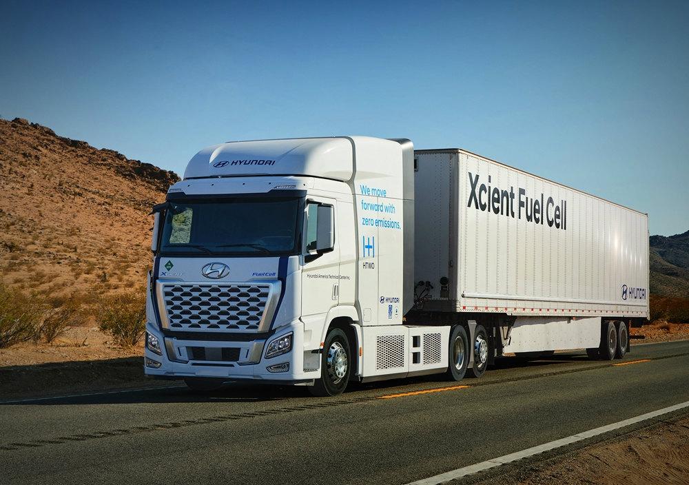欧州に続き米国での普及を目指す「XCIENT Fuel Cell」 (写真:Hyundai Motor)