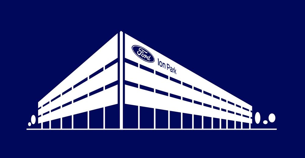 新しい電池研究センターのイラスト (出所:Ford Motor)