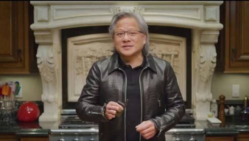 2021年4月開催の「GTC 2021」の基調講演でArmのエコシステム拡大を強調するエヌビディアのHuang氏