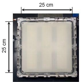 25cm角の光触媒パネル反応器