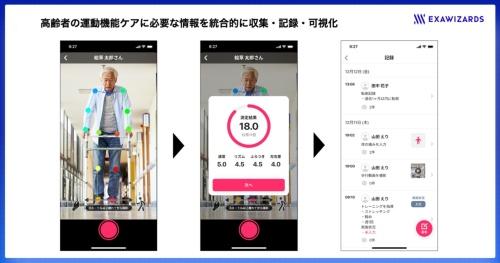動画から歩行機能を評価するアプリ