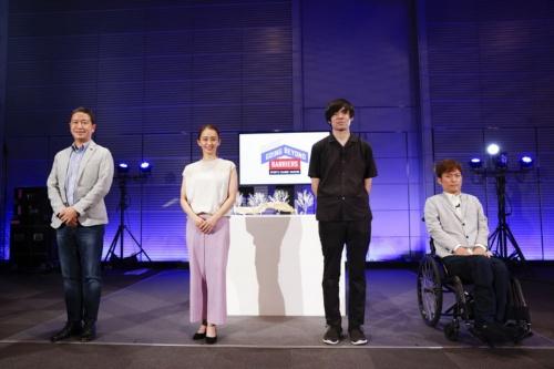 フォトセッションの様子。写真右から二人目が日本代表の横瀬健斗氏