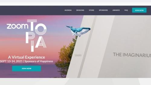 「Zoomtopia 2021」のWebページ(出所:「Zoomtopia 2021」のWebページをキャプチャーしたもの)