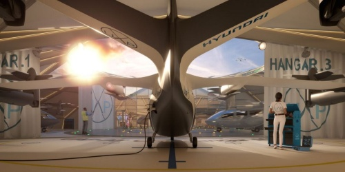 eVTOL機向けハンガーのイメージ