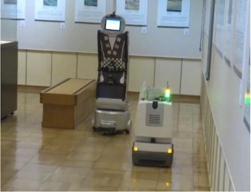 図2:異種ロボット間の相互回避の様子