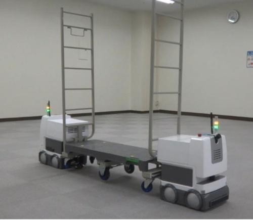 図3:同種ロボットによる協調搬送の様子