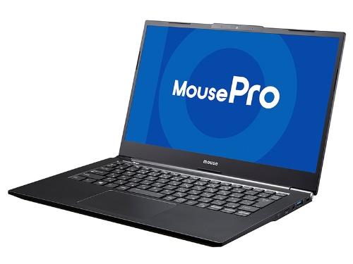 最新モデルの「MousePro NB4」シリーズ。第10世代インテルi5/i7のハイエンドCPUを搭載し、約25時間動作可能な長時間バッテリーを内蔵した「タフネス&モバイル」14型PCだ