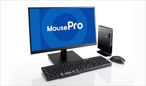 小型デスクトップPC「Mシリーズ」。小さく軽量なため、持ち運べるデスクトップといえる。省スペースなので、机が広々と使え、業務効率がアップする