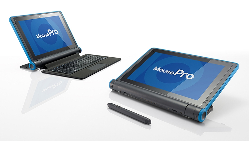 GIGAスクール構想実現を支援する端末として注目の「MousePro P101」シリーズ。「MousePro P116」シリーズの頑丈さを継承しつつ、生徒の使い方に適した機能性も兼ね備える