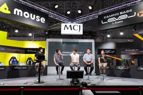 左からモデレーターのMogura VRの編集長でMogura Mogura Inc. 代表取締役社長 CEO 久保田瞬氏、パネリストのヒストリア 代表取締役 佐々木瞬氏、リブゼント・イノベーションズ 代表取締役 橋本善久氏、積木製作 シニアディレクター 関根健太氏、Epic Games Japan サポートエンジニア 岡田和也氏